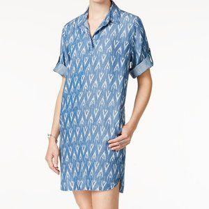Velvet Heart denim printed loose collared dress